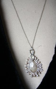 Rut Quartz Blang Necklace - vintage blang - direct link http://shelbilavender.com/necklaces-2/033-3/