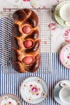 Tsoureki. Pan griego de Pascua