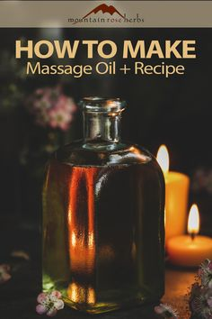 Bergamot Essential Oil, Pure Essential Oils, Good Massage, Massage Oil, Mountain Rose Herbs, How To Make Oil, Herbal Medicine, Chinese Medicine, Homemade Beauty
