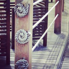 Creative fun way to make a nautical fence. Funky rope. Love it. by LynneKnowlton, via Flickr