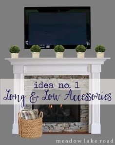 decorating a mantel with a tv above - Mantel Decorating