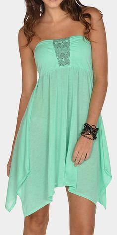 Mint Strapless Dress