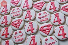 Supergirl & princess themed cookies