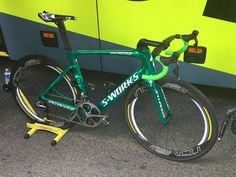 Peter Sagan's special green machine for stage 21 TdF 2016, to commemorate his 5th in a row green jersey win.