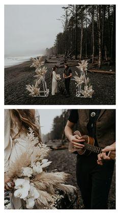 Boho Beach Wedding, Elope Wedding, Henna Powder For Hair, Beach Elopement, Elopement Wedding, Pagan Wedding, Beach Ceremony, Wedding Photography Poses, Elopement Inspiration