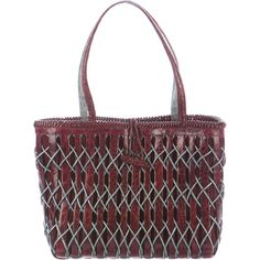 Pre-owned Nancy Gonzalez Crocodile Woven Tote (60.190 RUB) ❤ liked on Polyvore featuring bags, handbags, tote bags, red, zipper tote, zip tote bag, tote handbags, zippered tote bag and red tote bag