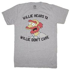 The Simpsons Willie Hears Ya Willie Don't Care Men's T-Shirt (2XL Heather Grey) http://order.sale/tfLf (via Amazon)