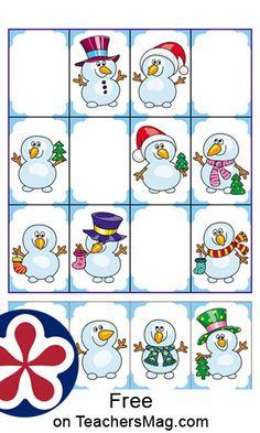 Color Words Kindergarten, Kindergarten Worksheets, Free Printable Worksheets, Free Printables, Snowman Patterns, Christmas Worksheets, Snowmen, Christmas Themes, Elementary Schools
