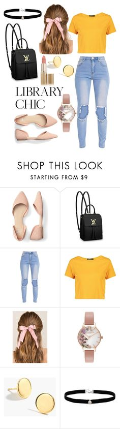 """""""Bright day ahead"""" by queenrona ❤ liked on Polyvore featuring Louis Vuitton, Boohoo, Francesca's, Olivia Burton, J.Crew, Amanda Rose Collection and L'Oréal Paris"""