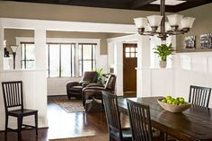 updated craftsman bungalow | ... of remodeled Craftsman house with built-in bookcases and wainscoting
