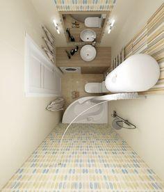 Pink Bathroom: Designs & Decoration Photos - Home Fashion Trend Small Bathroom Layout, Small Bathroom With Shower, Tiny Bathrooms, Tiny House Bathroom, Amazing Bathrooms, Small Apartment Interior, Bathroom Interior, Bad Inspiration, Bathroom Inspiration