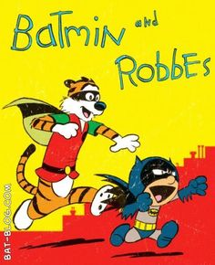 Calvin & Hobbes/Batman & Robin Mashup