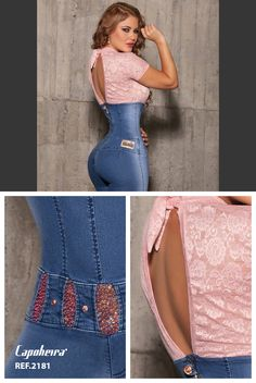Enterizo jeans colombiano levanta cola www.pathymoda.com  https://www.facebook.com/pathy.modas