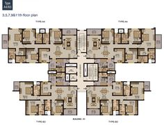 Résultats de recherche d'images pour «high rise residential floor plan»