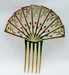 Art Deco Fan Like Hair Comb. @designerwallace