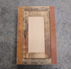 Rustic Reclaimed Medicine Cabinet or Spice Cabinet - In Wall / Recessed - Old Douglas Fir Flooring - Shaker Style
