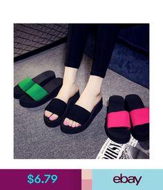 4ce15edbf0324 Slippers 2018 Womens Summer Flip Flops Casual Slippers Flat Sandals Beach  Open Toe Shoes  ebay
