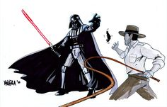 Darth Vader vs Indiana Jones by ~Kid-Liger on deviantART