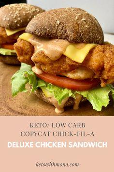 Chicken Sandwhich, Spicy Chicken Sandwiches, Marinated Chicken, Crispy Chicken, Keto Chicken, Chicken Recipes, Asian Recipes, Ethnic Recipes, Keto Recipes