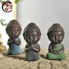 2016 Buddha statue figurine decoration monk tea pet car accessories bonsai/garden/house decoration tathagata India Yoga Mandala(China (Mainland))