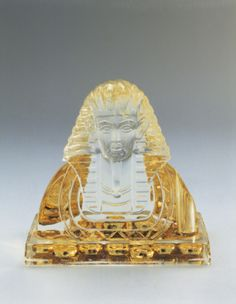 Close-up of a Pharaoh shaped snow globe