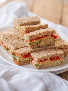 Chickpea Hummus Salad Sandwiches | Avocado a Day Nutrition