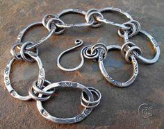Fine Silver Handmade Chain Bracelet. $155.00, via Etsy.
