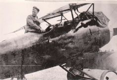 WWI Photo of German Pilot Hermann Goering Sitting Above Cockpit Of His Albatros