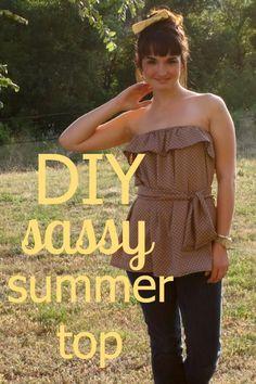 Sew Caroline: DIY Sassy Summer Top