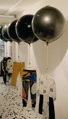 just show your clothing with balloons
