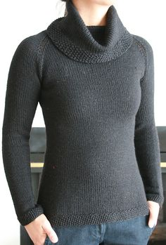 Ravelry: Hourglass Sweater pattern by Joelle Hoverson with turtleneck option