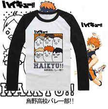 Anime Haikyuu! DIY Baseball Jersey Costume Long Sleeve T-shirt