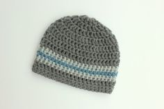 Crochet Boy Hat Toddler hat Baby hat gray and by jobeththompson, $16.50