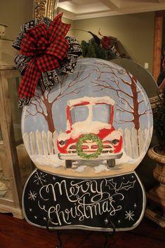 Magic Ears with Christmas Lights door hanger