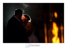 Bride and groom portraits at night by Joseph Delgado Photography.