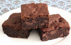 Fudgy Brownie Recipe on twopeasandtheirpod.com The BEST fudgy brownies!