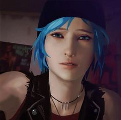 Life is strange - Chloe, the blue-haired girl.