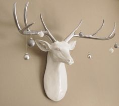 Faux Taxidermy Deer Head Extra Large Deer Head by hodihomedecor