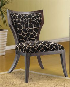 Luxe Chair Hancock  Moore Zebra print fabric for chair back