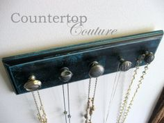 Jewelry Necklace Organizer Rack beautiful by CountertopCouture, $30.00