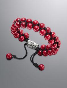 Spiritual Bead Bracelet, Red Coral