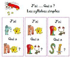 lecture de syllabes - jeu collectif Grade 1 Reading, Ontario Curriculum, Kindergarten, Core French, Phonemic Awareness, Teaching French, Letter Sounds, Teacher Hacks, Home Schooling