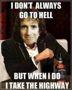 Bon Scott of early AC/DC Highway to Hell