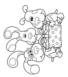 Blues Clues Birthday Color Page