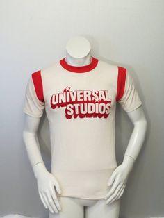 8c6e24b4f792 Vintage Graphic T-shirt - 1970s Universal Studios Shirt - Felt Iron On -  Men s Small