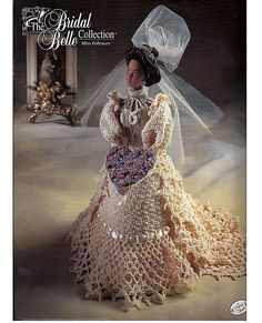 The Bridal Belle Collection Miss February Fashion Doll  Crochet Pattern  Annies Attic via Etsy