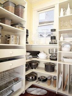Pantry-very nice way to stow large pots and small appliances