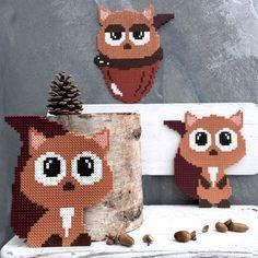 fine egern i hama perler fra Anja takacs