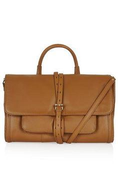 Premium Tan Leather Silverlake Satchel ($230)