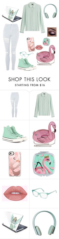 """""""Flamingo~"""" by amazing-gracemr ❤ liked on Polyvore featuring Topshop, Tara Jarmon, Converse, Capelli New York, Casetify, Max&Co., Zimmermann, contest, mint and flamingo"""